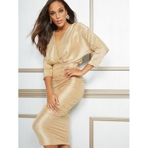 New York & Co Eva Mendes Farah Midi Dress Cocktail